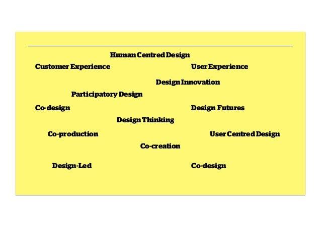 Human Centred Design Customer Experience  User Experience Design Innovation  Participatory Design Co-design  Design Future...