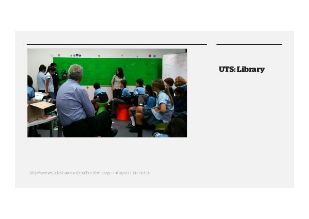 UTS: Library  http://www.slideshare.net/malbooth/design-catalyst-ci-lab-notes
