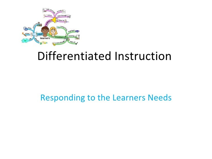 Differentiated Instruction  Responding to the Learners Needs