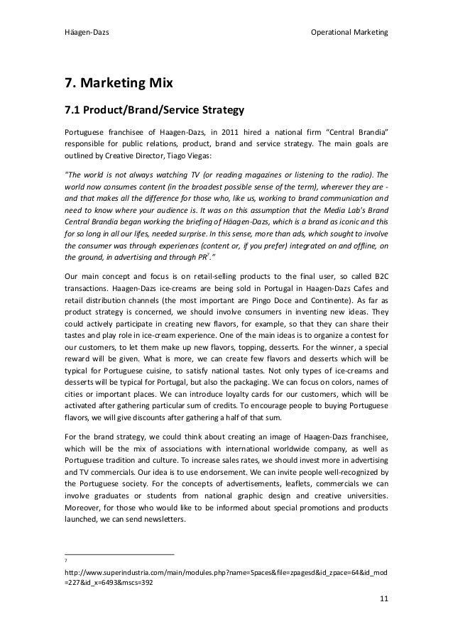 Study case marketing mix
