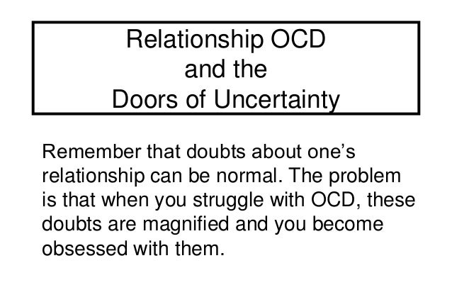 relationship with someone with ocd