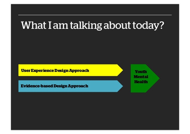 Integrating UX and evidence-based approaches to design effective youth mental health services Slide 2