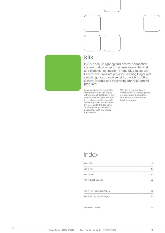 hager klik lighting connection control catalogue. Black Bedroom Furniture Sets. Home Design Ideas