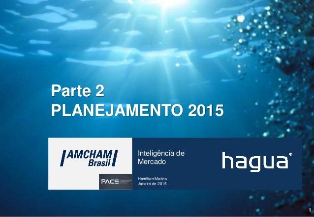 1 Inteligência de Mercado Hamilton Mattos Janeiro de 2015 Parte 2 PLANEJAMENTO 2015