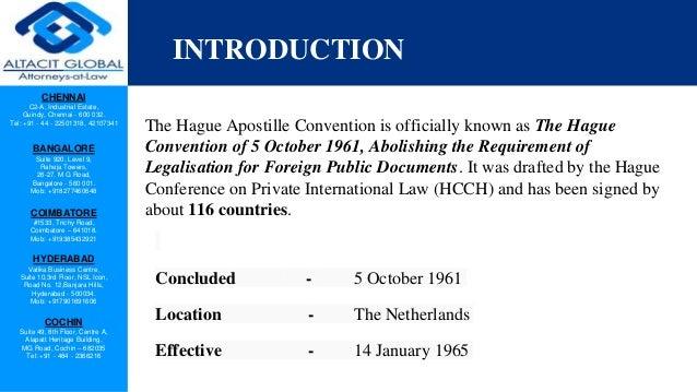 Hague apositille convention Slide 2