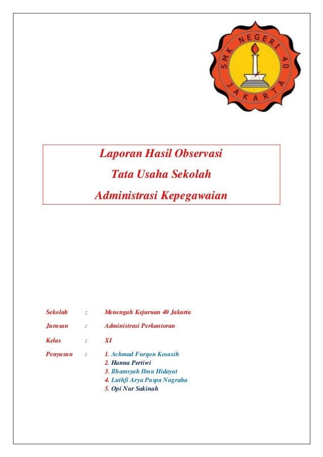 Hasil Observasi Tata Usaha Smk Negeri 40 Jakarta