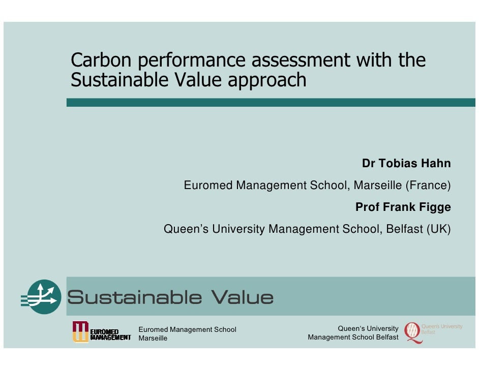Carbon performance assessment with the Sustainable Value approach                                                        D...