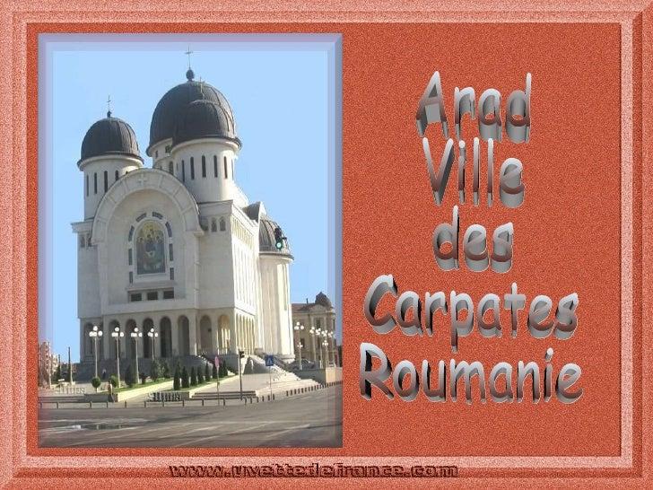 Arad Ville des Carpates Roumanie