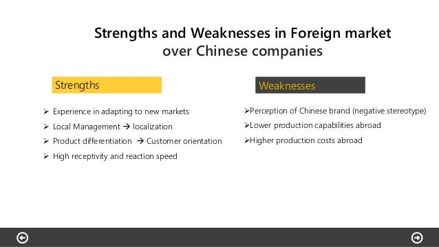 weakness of haier The swot analysis of haier strengths first of all, haier enjoys a well-known brand name and high reputation for reliable quality and first-rate customer service  another wo strategy is transformation regarding its internal weakness in the open university.