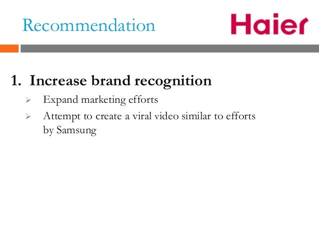 recommendation for haier 11 recommendations for improvement in four key areas  18 organizational  change and talent management at haier  china makes four recommendations.