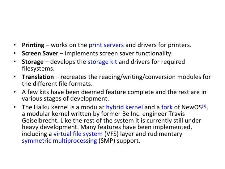 <ul><li>Printing  – works on the  print servers  and drivers for printers. </li></ul><ul><li>Screen Saver  – implements sc...