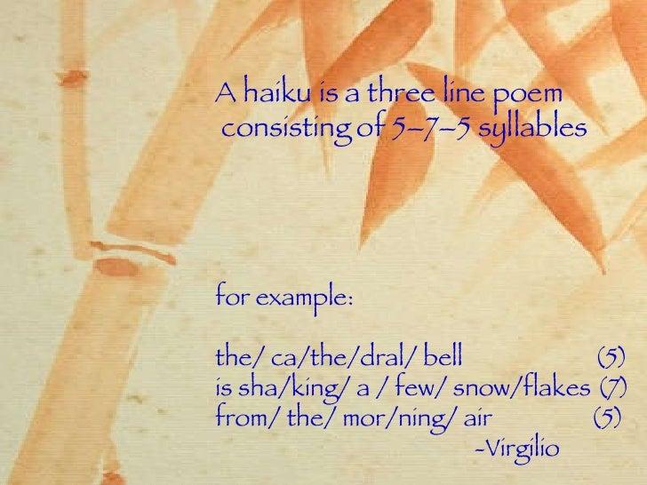 Haiku examples 5 7 5 – mommycircle. Club.