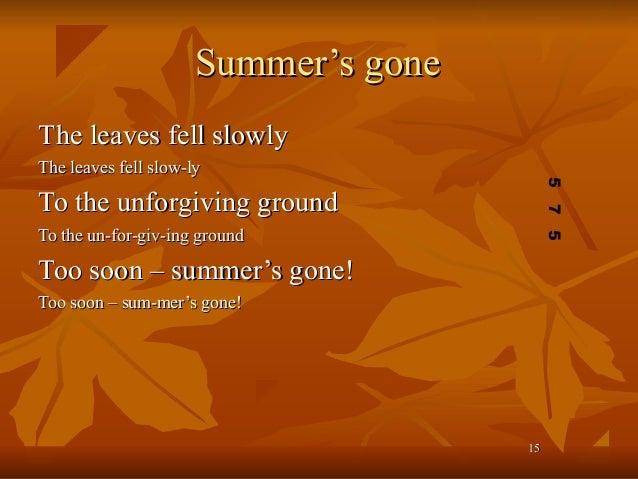 Poetic techniques & terminology