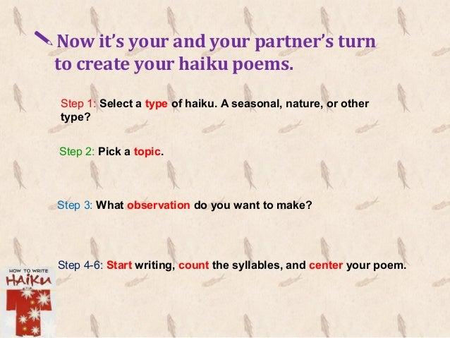 How to write a haiku ppt