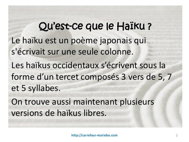 Haikus Et Senryus