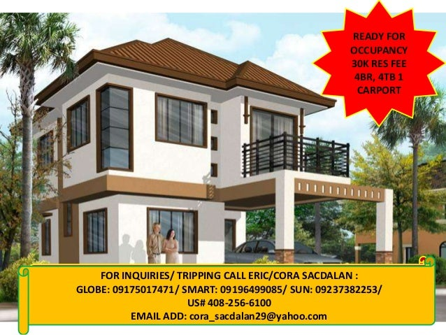 Ready for occupancy houses in cavite rush for sale for 2 houses on one lot for sale
