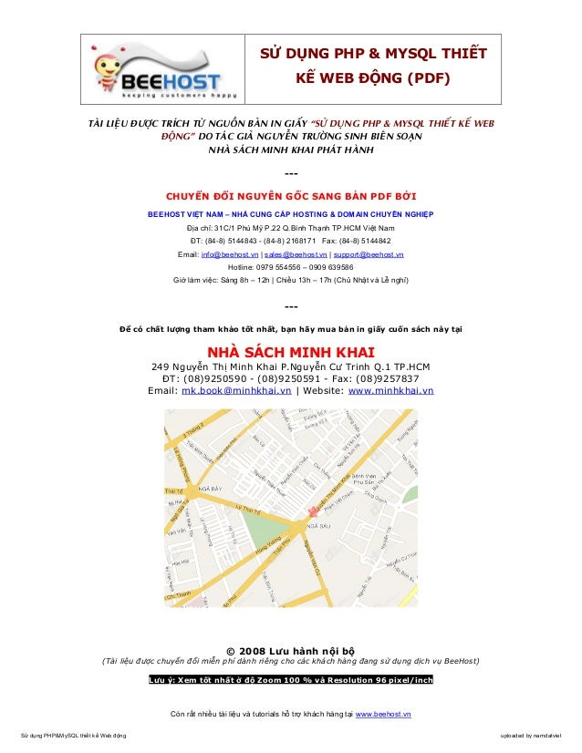 S       D NG PHP & MYSQL THI T                                                                                  K      WEB...