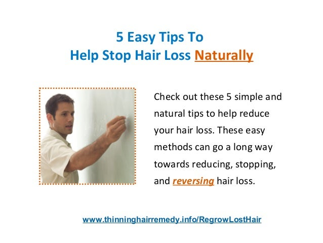 Hair Regrowth - 5 Easy Hair Regrowth Tips For Men