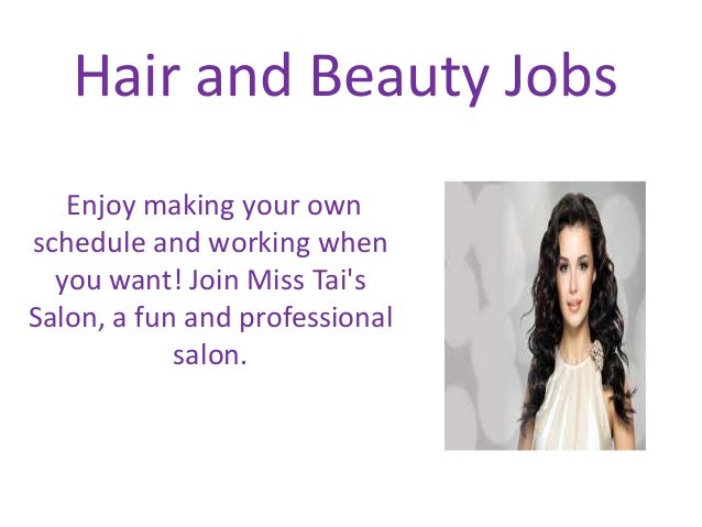 Hair and beauty jobs