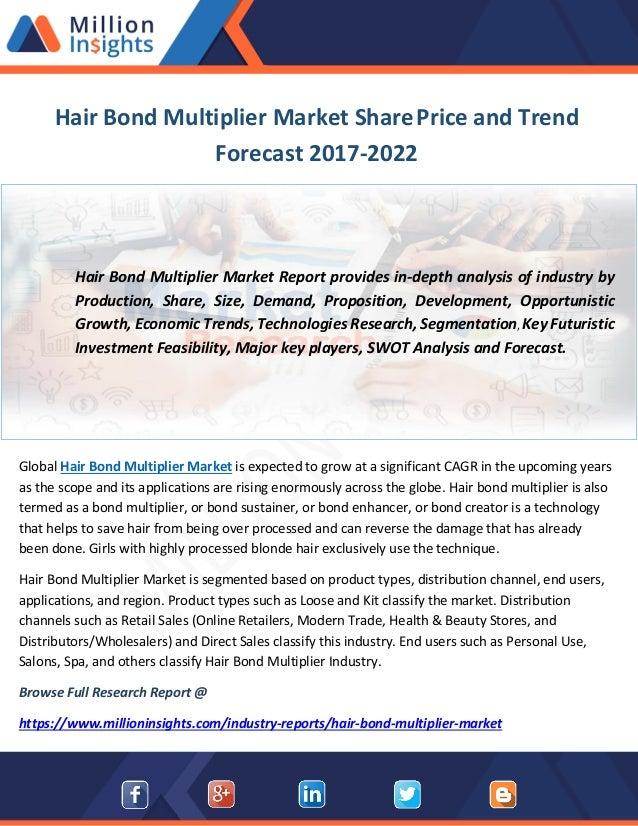 Hair Bond Multiplier Market Share Price and Trend Forecast 2017-2022