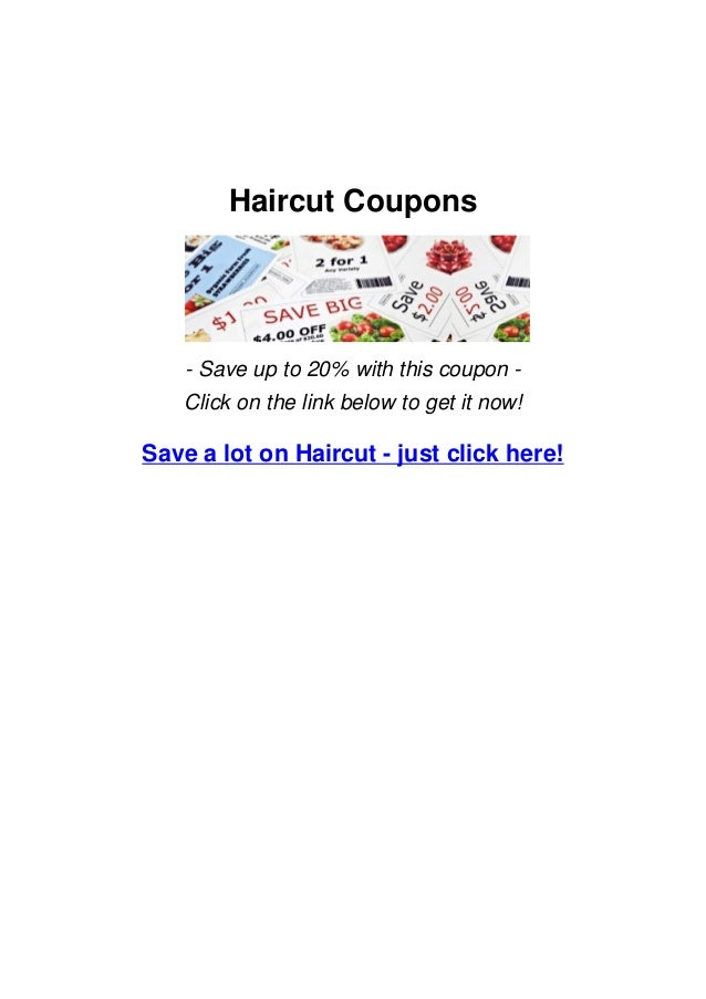 Haircut Coupons Save Big