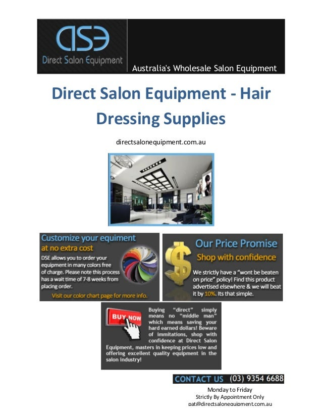 Australias Wholesale Salon EquipmentMonday to FridayStrictly By Appointment Onlypat@directsalonequipment.com.auDirect Salo...