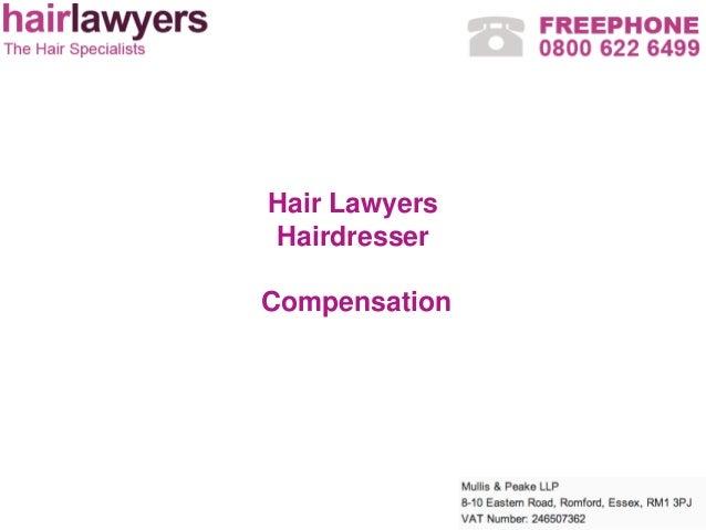 Hair LawyersHairdresserCompensation