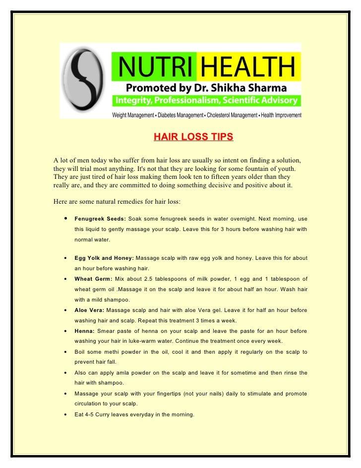 Natural Remedies For Hair Loss