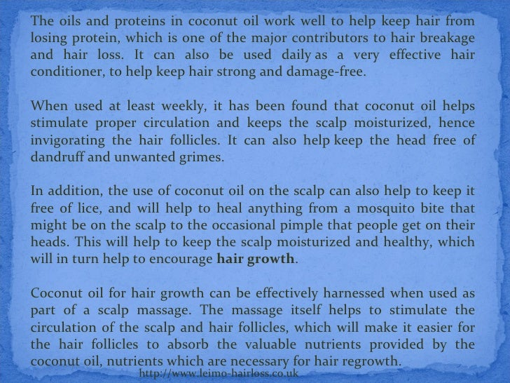 Coconut Oil And Dandruff Hair Loss