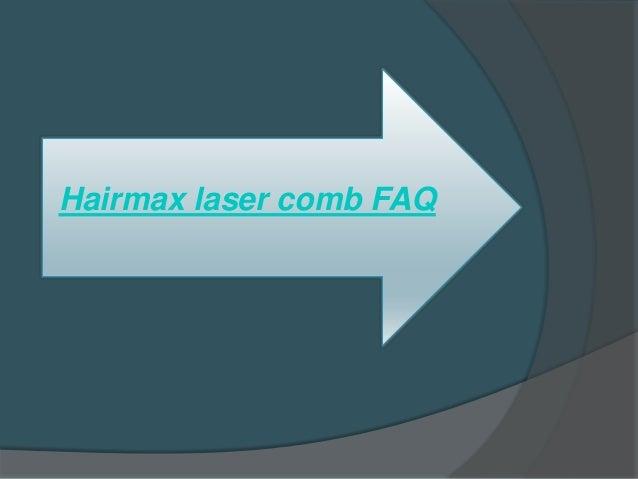 Hairmax Laser Comb Faq