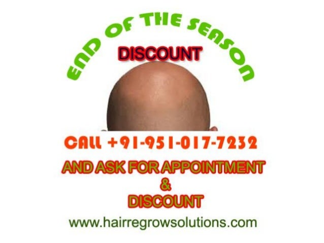 • Start calling and BOOK your slot for appointment to avail the BIG season ending DISCOUNT at Hair Regrow Solutions for yo...