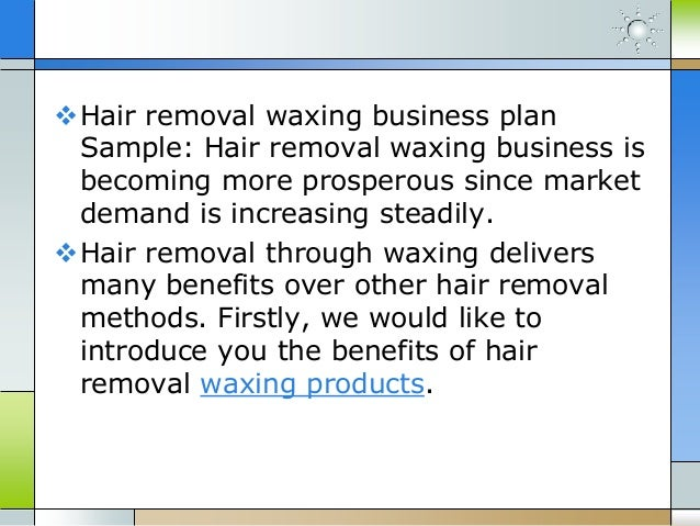 Waxing salon business plan