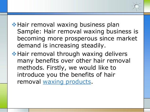 Waxing salon business plan