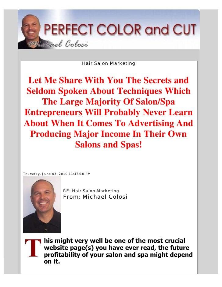 Hair salon marketing for Salon marketing