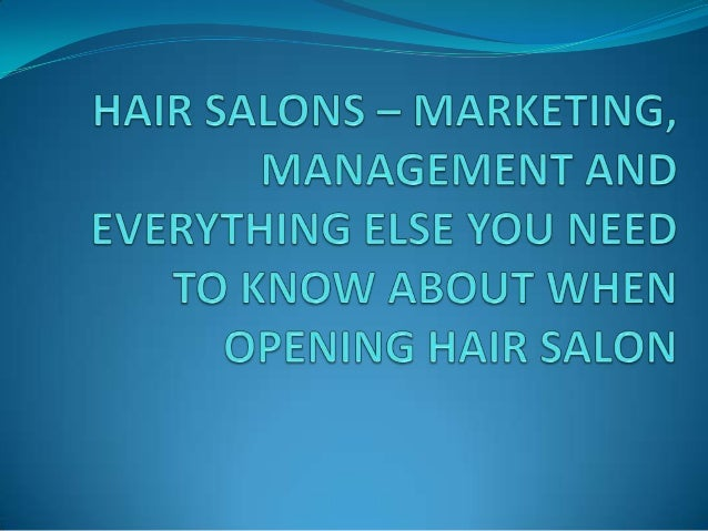 Hair salons marketing management and everything you for Salon data marketing