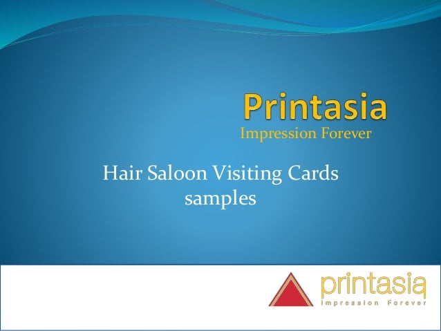 Impression Forever Hair Saloon Visiting Cards samples