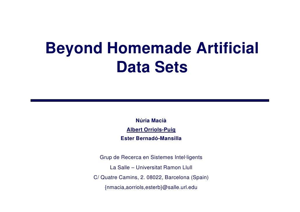 HAIS09-BeyondHomemadeArtificialDatasets
