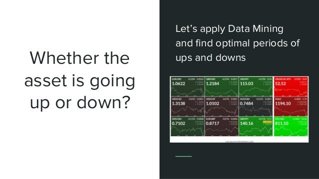 Whether the asset is going up or down? Let's apply Data Mining and find optimal periods of ups and downs