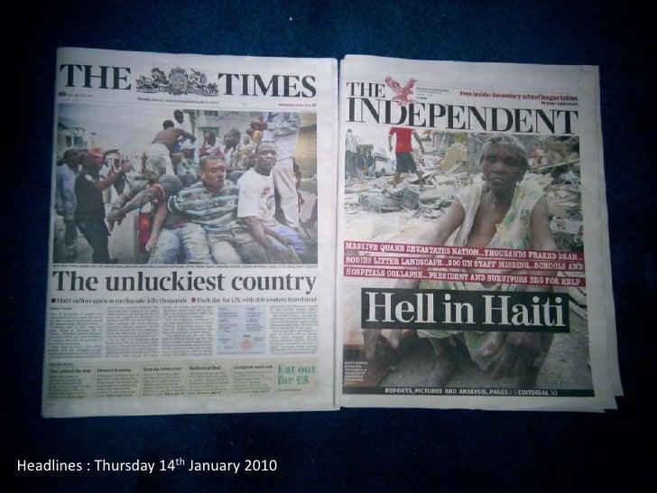 Headlines : Thursday 14th January 2010<br />