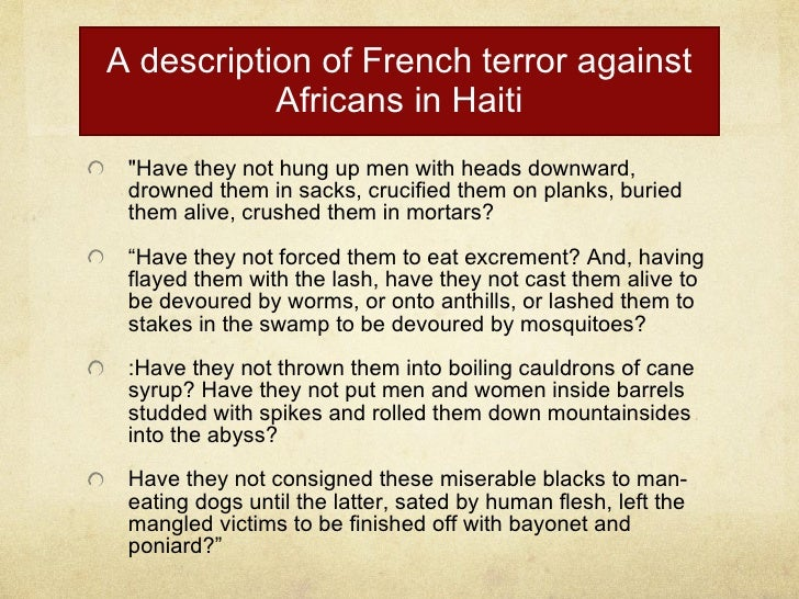 """In the 1780s Haiti grew  •40% of all sugar •60% of all coffee  consumed in Europe Haiti was called the  """" Pearl of the Ant..."""