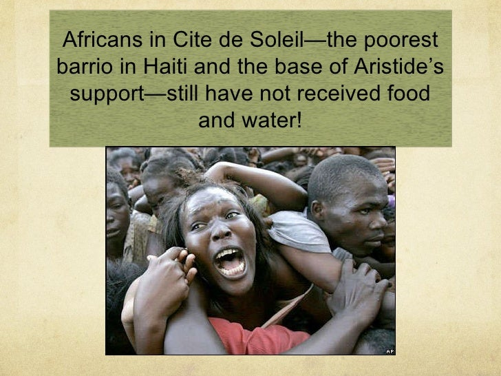 "IMF ""Structural Adjustment Program"" policies under Clinton deepened the poverty and destroyed Haiti's rice industry"