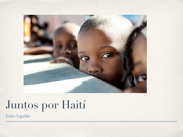 Juntos por Haití Ester Ugalde