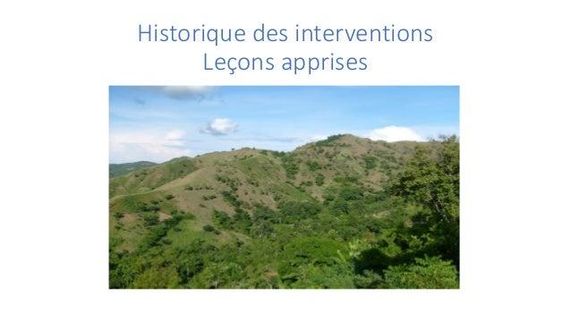 Historique des interventions Leçons apprises