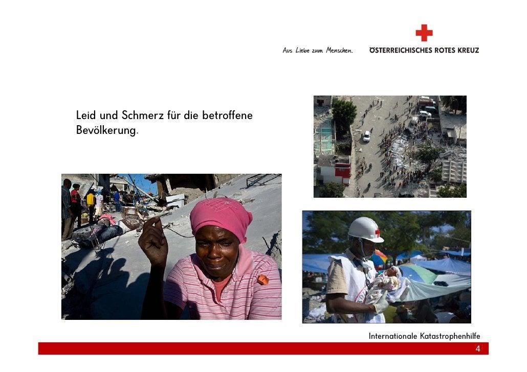 Leid und Schmerz für die betroffene Bevölkerung.                                           Internationale Katastrophenhilf...