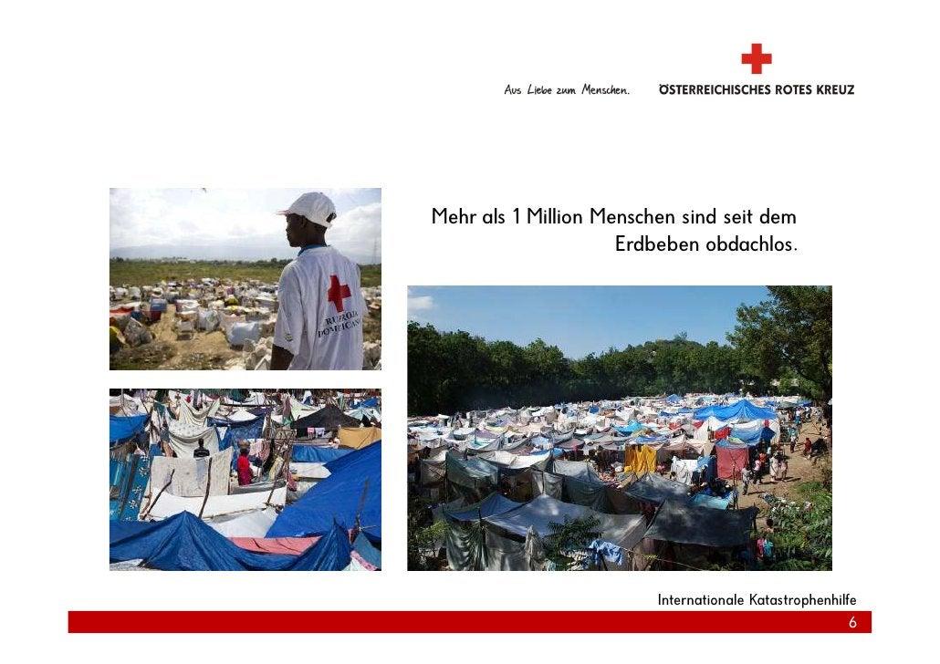 Mehr als 1 Million Menschen sind seit dem                      Erdbeben obdachlos.                              Internatio...
