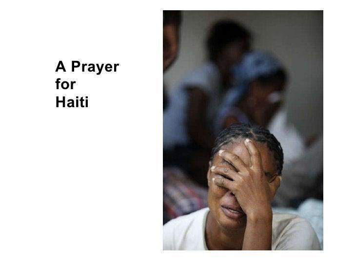 A Prayer for Haiti
