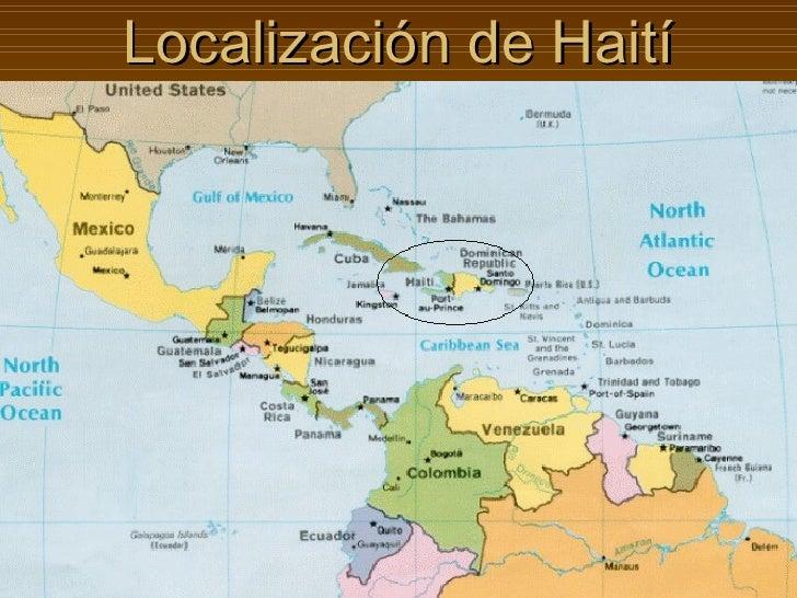 Localización de Haití