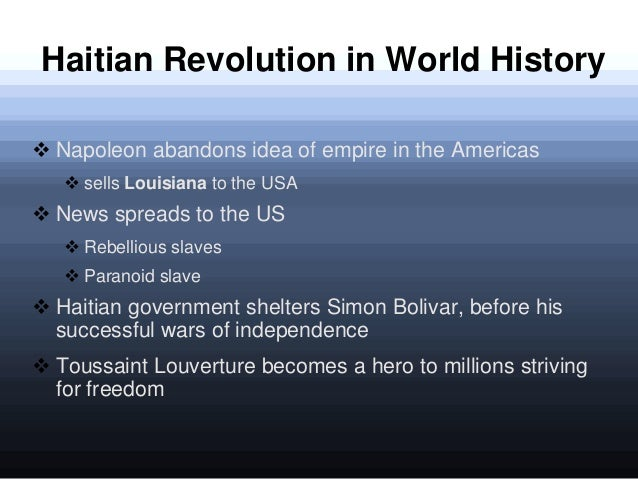 the history of the revolution in haiti We at stuff you missed in history class try to be objective, but i find that very difficult when it comes to pat robertson recently, robertson implied that the.