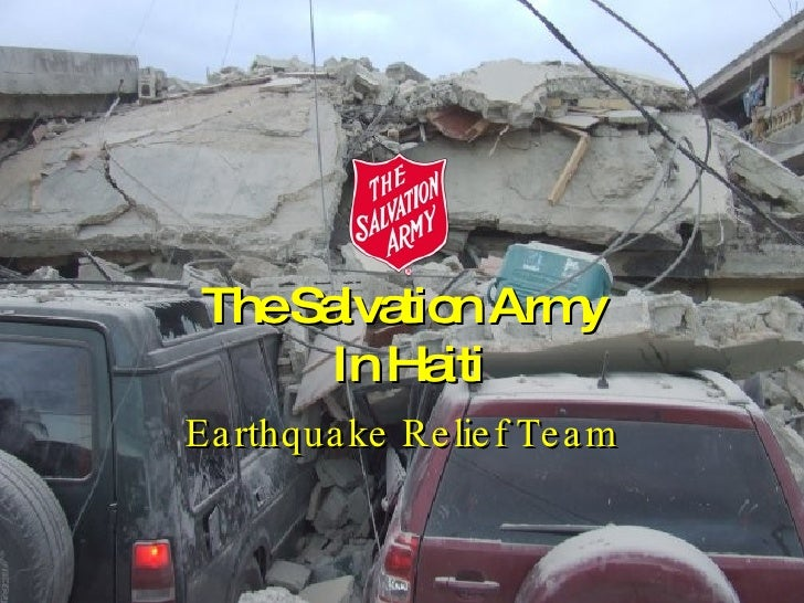The Salvation Army  In Haiti Earthquake Relief Team