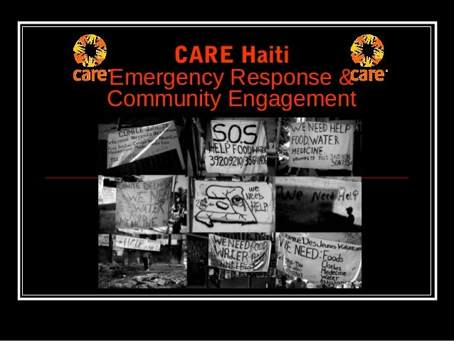 CARE Haiti Emergency Response & Community Engagement